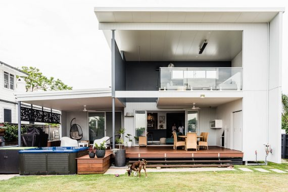 Roof top deck with renovation